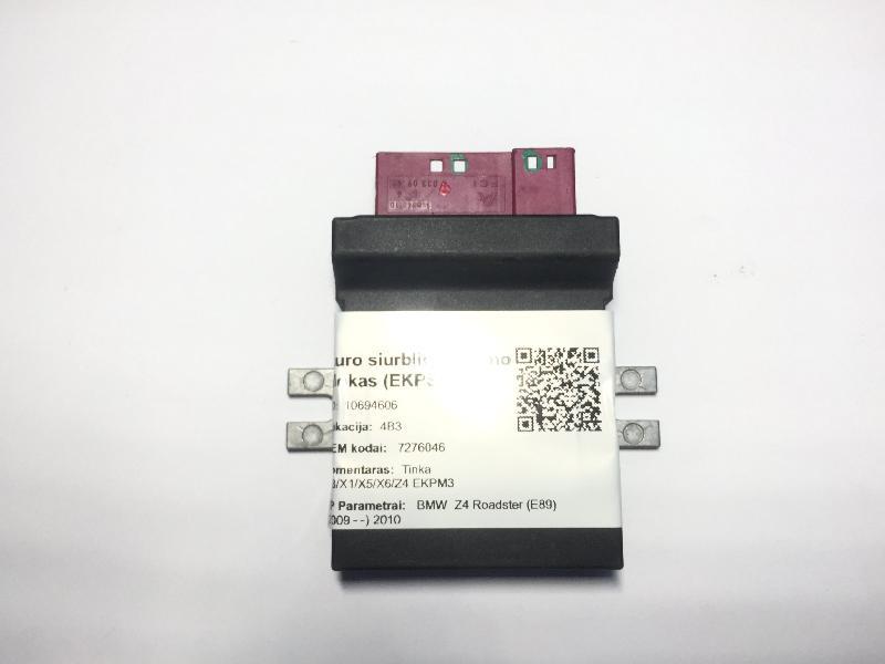BMW Z4 ROADSTER (E89) Kuro siurblio valdymo blokas (EKPS) 7276046 4977652