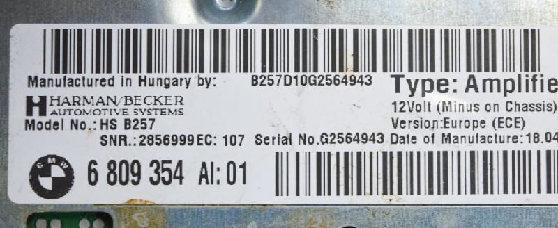BMW 1 (F21) Garso stiprintuvas 6809354 2662269