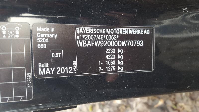 BMW 5 (F10) Kitos kėbulo detalės 7204021 3534993