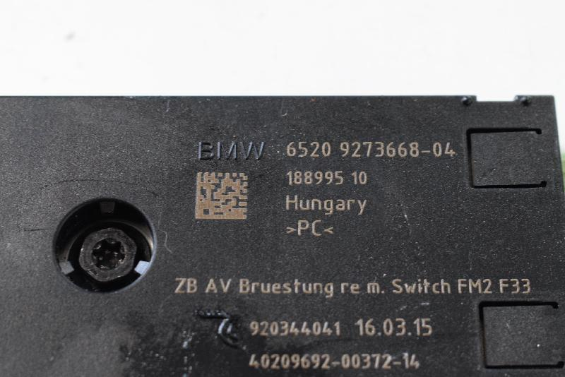 BMW 4 Convertible (F33, F83) Antenos stiprintuvas 9273668 4280615