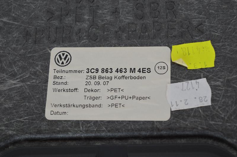 VW PASSAT Variant (365, B7) Bagažinės kilimas 3C9863463M4ES 3C9863463M 3C9863463 1522807