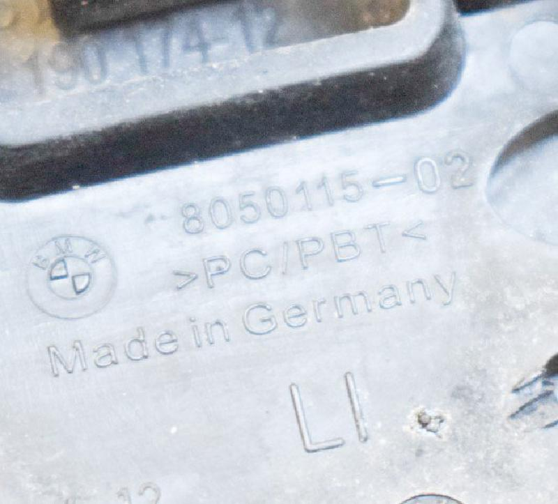 BMW 5 (F10) Kairys žibintų apiplovėjo dangtelis 19017412 8050115 4305360