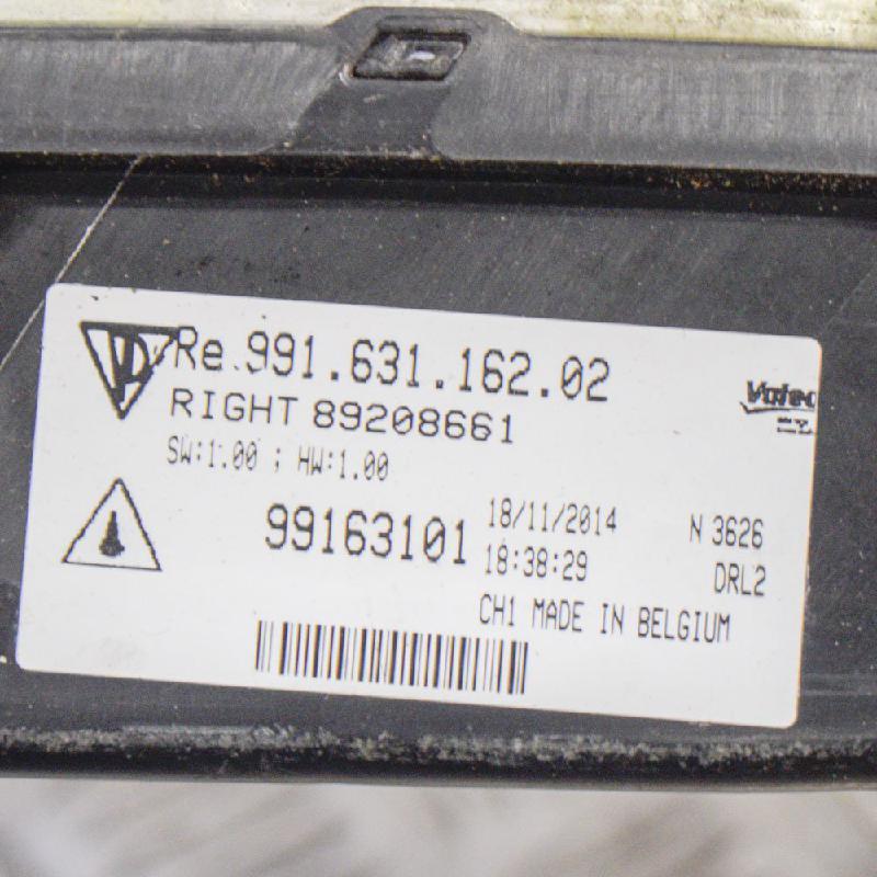 PORSCHE 911 (991) Priekinis dešinys papildomas žibintas 991.631.162.02 89208661 99163116202 4917401