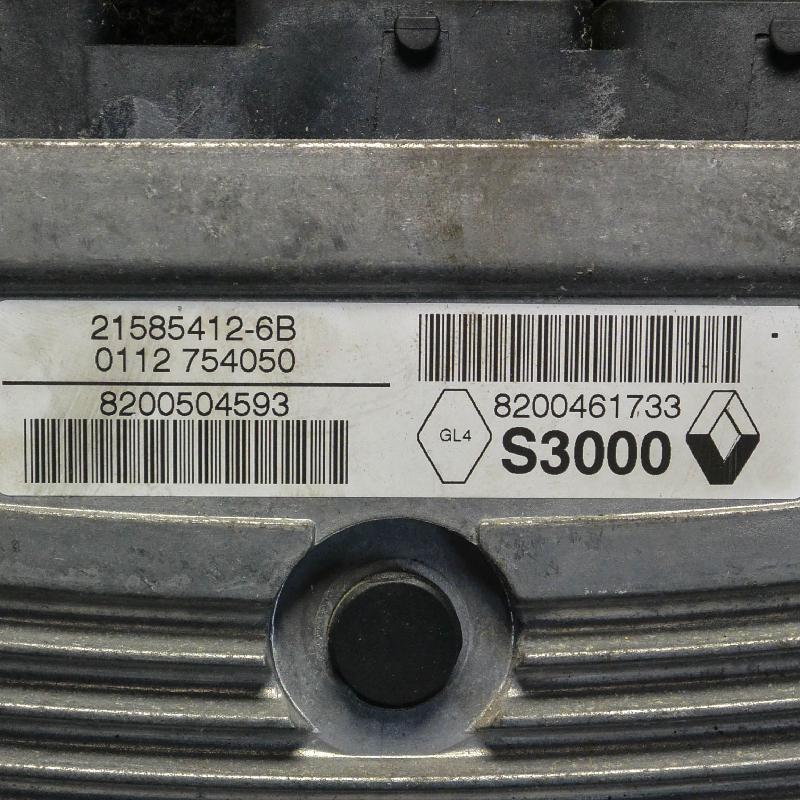 RENAULT CLIO III (BR0/1, CR0/1) Variklio kompiuteris 8200504593820046173321585412-6B 1256636