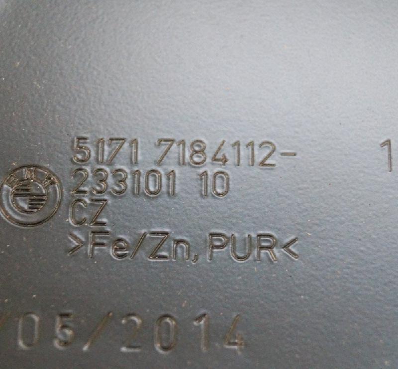 BMW 5 (F10) Kitos kėbulo detalės 7184112 2413391