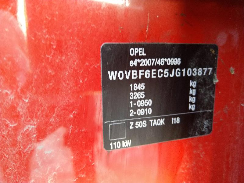 OPEL ASTRA K Galinės kairės durys 39094744 3531128