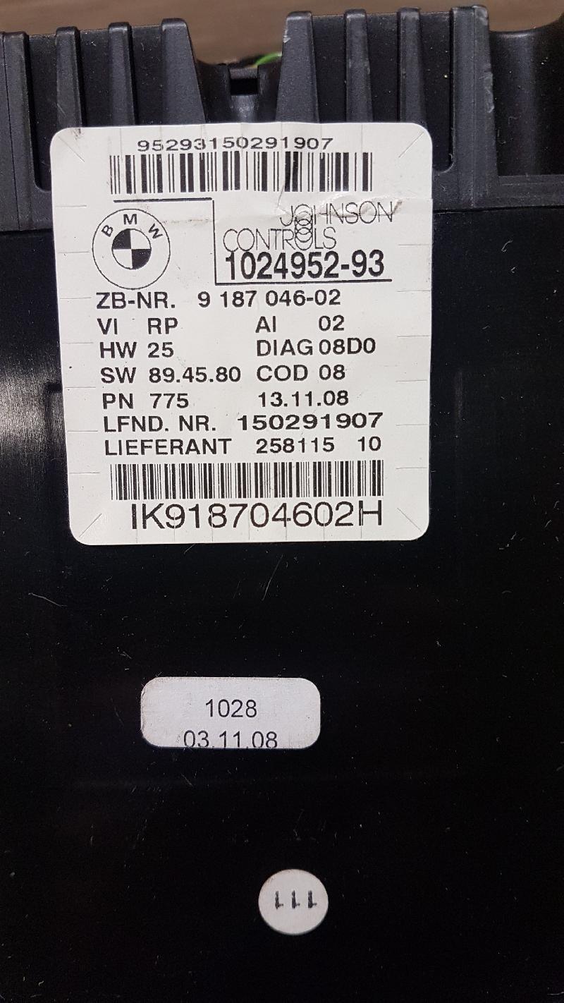 BMW 1 (E87) Spidometras 1024952-93 IK918704602H 5015851