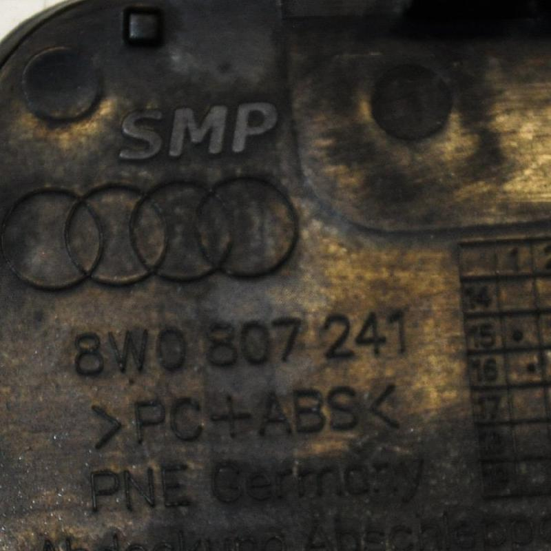 AUDI A4 Allroad (8WH, B9) Priekinio bamperio buksiravimo kilpos dangtelis 8W0807241 3483823
