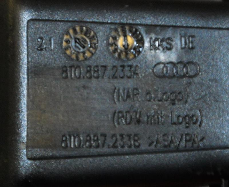 AUDI A4 (8K2, B8) Kitos salono detalės 8T0887233A8T0887233B 3850933