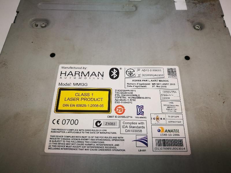AUDI A4 Avant (8K5, B8) CD keitiklis DA103858 4048130